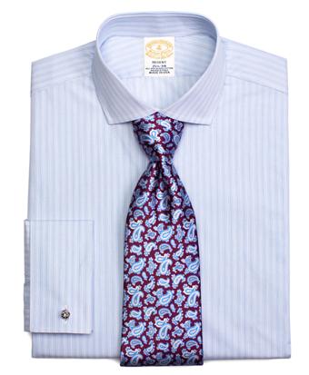 Golden Fleece® Regent Fit Alternating Spaced Pinstripe French Cuff Dress Shirt