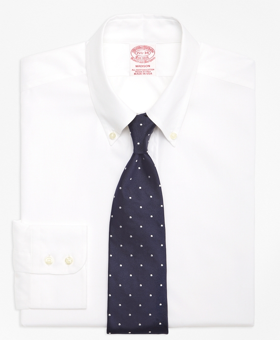 Madison Fit Button-Down Collar Dress Shirt White
