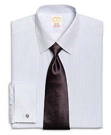 Golden Fleece® Madison Fit French Cuff Framed Triple Stripe Dress Shirt