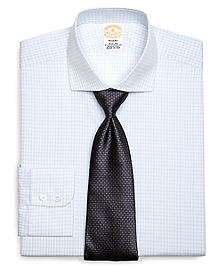 Golden Fleece® Regent Fit Small Windowpane Overcheck Dress Shirt