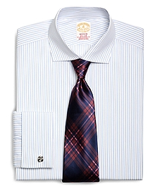 Golden Fleece® Madison Fit French Cuff Dotted Sidewheeler Stripe Dress Shirt
