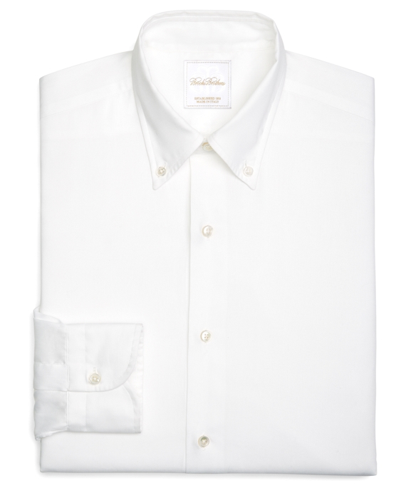 Button-Down Oxford Dress Shirt White