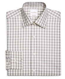Large Check Woven Dress Shirt