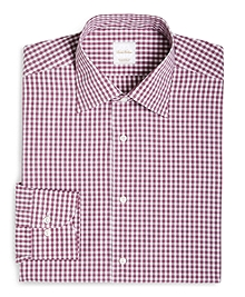 Gingham Woven Dress Shirt