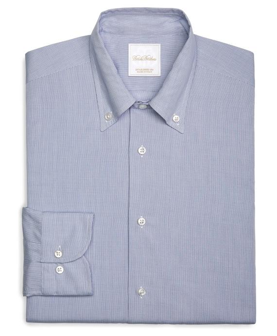 Micro Check Woven Dress Shirt Blue