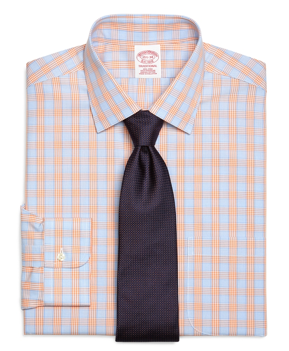 Men 39 s non iron traditional fit tab collar dress shirt for Brooks brothers custom shirt