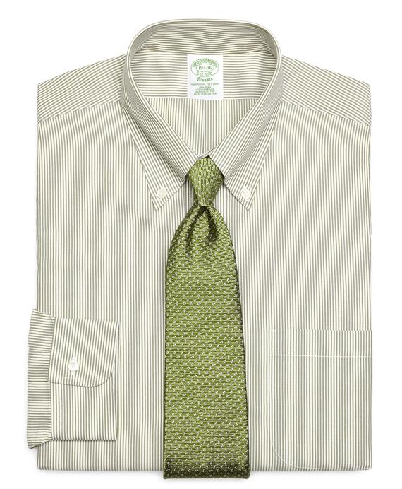 Non-Iron Extra-Slim Fit Candy Stripe Dress Shirt Green