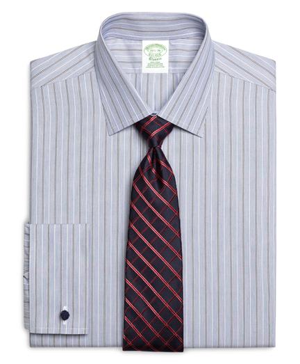 Men 39 s slim fit striped dress shirt brooks brothers for Brooks brothers custom shirt