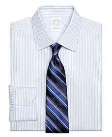 Slim Fit Framed Stripe Dress Shirt
