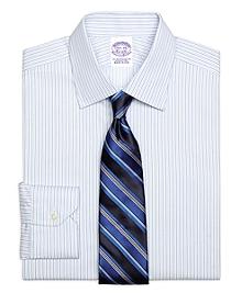 Regular Fit Framed Stripe Dress Shirt