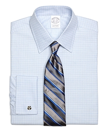 Slim Fit Micro Tonal Check French Cuff Dress Shirt