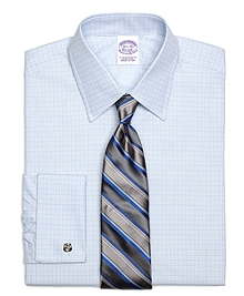 Regular Fit Micro Tonal Check French Cuff Dress Shirt