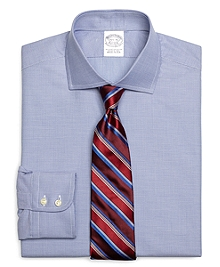 Slim Fit Micro Gingham Dress Shirt