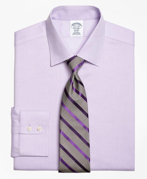 Regent Fitted Dress Shirt, Non-Iron Royal Oxford Purple