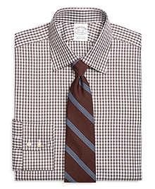 Slim Fit Shadow Check Dress Shirt