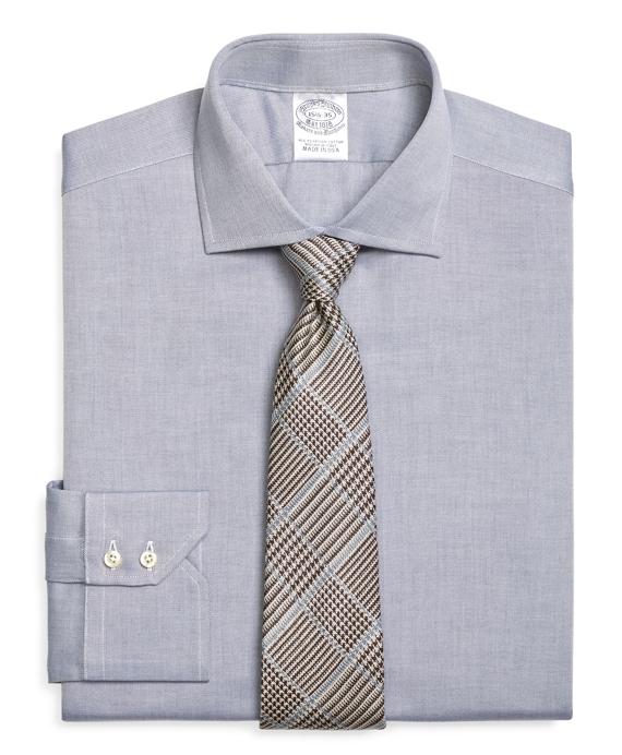 Slim Fit English Collar Dress Shirt Blue