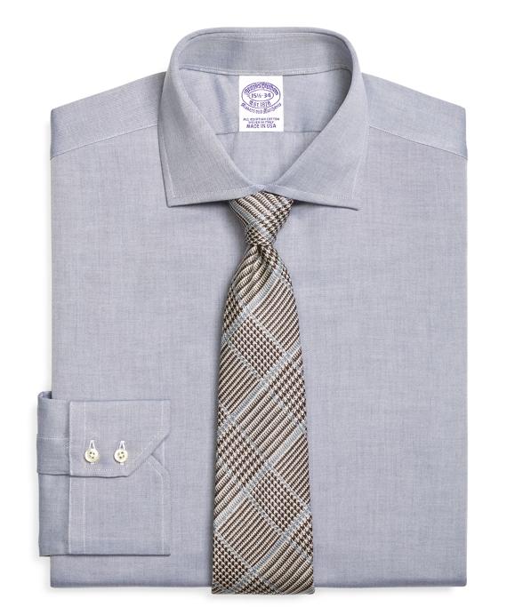 Regular Fit English Collar Dress Shirt Blue