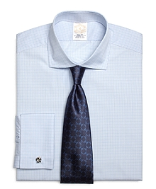 Golden Fleece® Regent Fit French Cuff Framed Check Dress Shirt