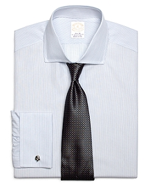 Golden Fleece® Madison Fit French Cuff Sidewheeler Stripe Dress Shirt