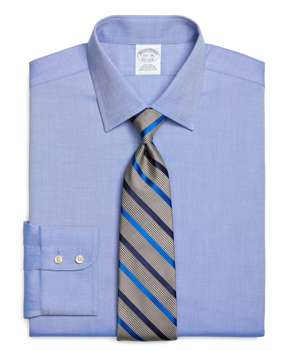 Regent Fitted Dress Shirt, Non-Iron Royal Oxford Blue