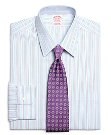 Non-Iron Traditional Fit Hairline Alternating Stripe Dress Shirt