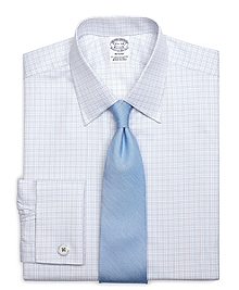 Regent Fit Twin Check French Cuff Dress Shirt
