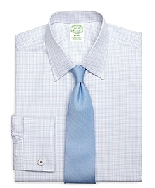 Milano Fit Twin Check French Cuff Dress Shirt