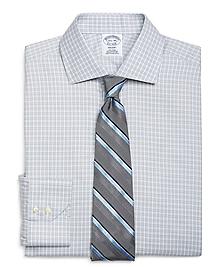 Non-Iron Regent Fit Alternating Frame Check Dress Shirt