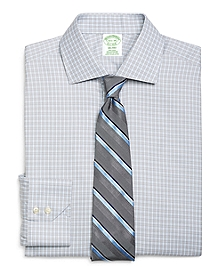Non-Iron Milano Fit Alternating Frame Check Dress Shirt