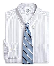 Non-Iron Regent Fit Alternating Shadow Stripe Dress Shirt
