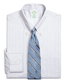 Non-Iron Milano Fit Alternating Shadow Stripe Dress Shirt