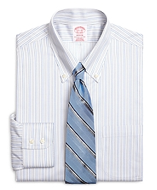 Non-Iron Madison Fit Alternating Shadow Stripe Dress Shirt