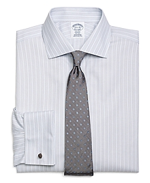 Non-Iron Regent Fit  Triple Stripe French Cuff Dress Shirt
