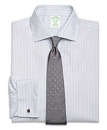 Non-Iron Milano Fit Triple Stripe French Cuff Dress Shirt