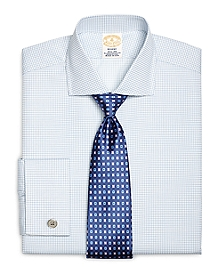 Golden Fleece® Regent Fit Textured Windowpane French Cuff Dress Shirt