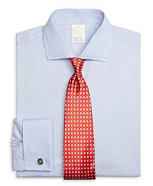 Golden Fleece® Regent Fit Textured Alternating Stripe French Cuff Dress Shirt