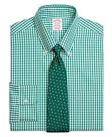 Traditional Fit Split Windowpane Dress Shirt
