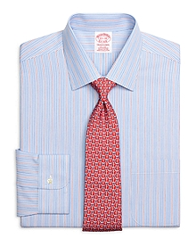 Non-Iron Traditional Fit Framed Stripe Dress Shirt