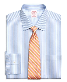 Non-Iron Traditional Fit Glen Stripe Dress Shirt