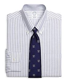 Non-Iron Regent Fit BrooksCool® Alternating Stripe Dress Shirt