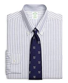 Non-Iron Milano Fit BrooksCool® Alternating Stripe Dress Shirt
