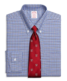 Non-Iron Madison Fit BrooksCool® Gingham Overcheck Dress Shirt