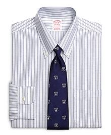 Non-Iron Traditional Fit BrooksCool® Alternating Stripe Dress Shirt