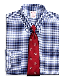 Non-Iron Traditional Fit BrooksCool® Gingham Overcheck Dress Shirt