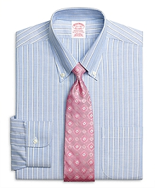 Non-Iron Traditional Fit BrooksCool® Sidewheeler Stripe Dress Shirt