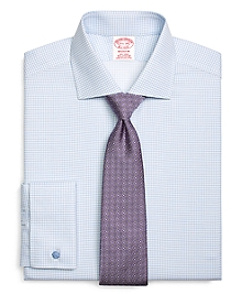 Madison Fit Windowpane French Cuff Dress Shirt