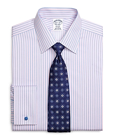 Non-Iron Regent Fit Split Stripe French Cuff Dress Shirt