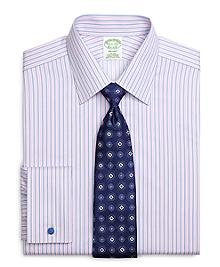 Non-Iron Milano Fit Split Stripe French Cuff Dress Shirt