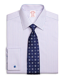 Non-Iron Madison Fit Split Stripe French Cuff Dress Shirt