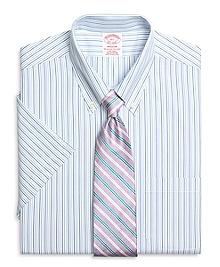 Non-Iron Madison Fit Short-Sleeve Tonal Stripe Dress Shirt